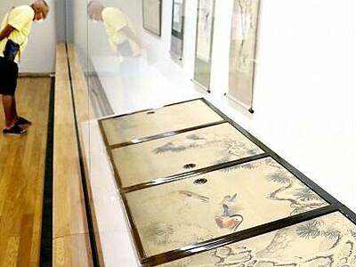 越前松平家 絵画に気品 福井市立郷土歴博物館で企画展