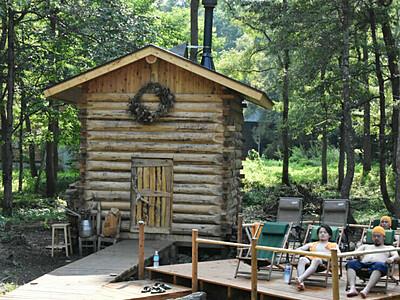 「フィンランド式」湖畔で汗を 野尻湖にサウナ小屋2棟目