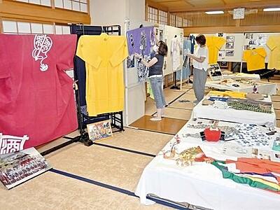 放生祭の気分味わって 小浜で衣装や小道具展示