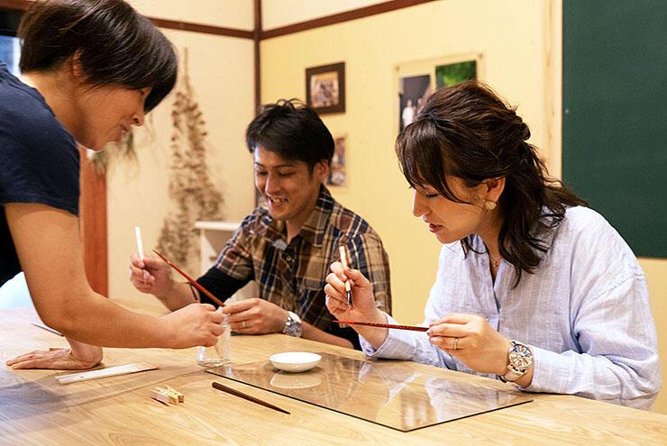 箸の漆塗りを体験できる「想い旅」のイメージ