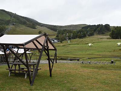 車山、ゲレンデがキャンプ場 高原の秋や夜空を楽しんで