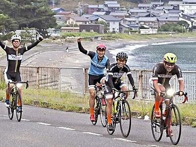 福井県の美浜や敦賀など160キロ、ロードバイク駆ける
