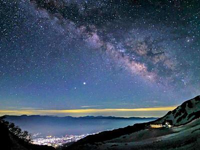 千畳敷カールで星空を 駒ケ岳ロープウェイ実証実験第2弾