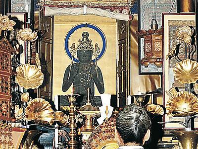 33年に1度 本尊開帳 小松・粟津 大王寺で法要