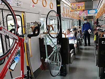 自転車と共に列車旅 富山-黒部で「サイクルトレイン」