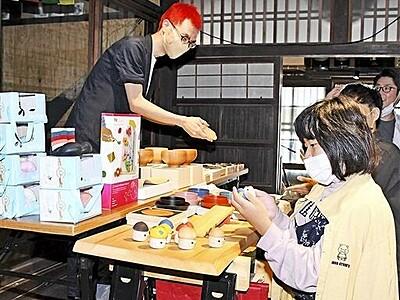 宿場マーケットにぎわい 若狭熊川宿に特産品や雑貨並ぶ