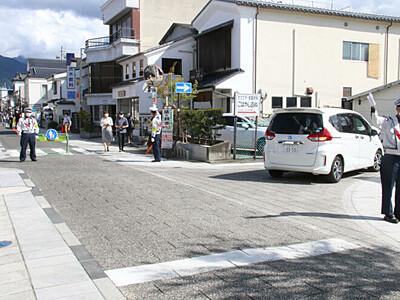 中町通りで車両禁止実験 松本市、交通施策に生かす