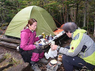 キャンプ人気、山小屋は低調 佐久穂・小海「白駒の池」周辺