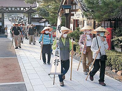 羽咋―門前 峨山道、今年は1日で巡行