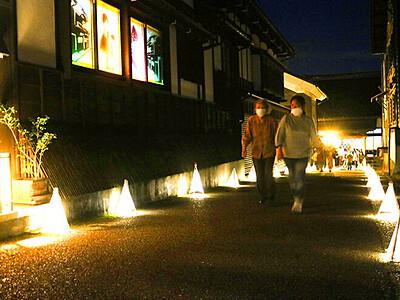 あんどん・影絵 幻想的 八尾 西町「禅寺坂アート」