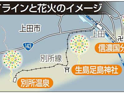 花火で結ぶ日本遺産の道 上田の3カ所で12月20日の夜に