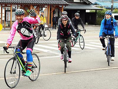 観光振興に自転車を 南砺サイクルツーリズム研