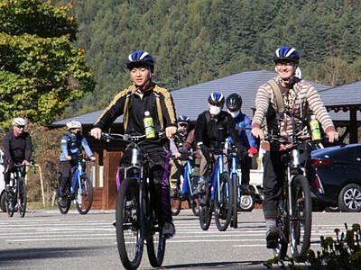 木曽路を自転車で...心待ち 6町村のコース設定へ