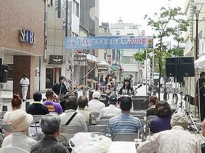 まちなか音楽祭で活気を 25日、福井駅西口4会場