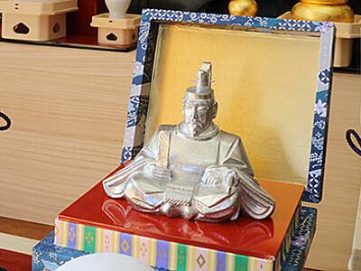 天神様 手のひらサイズ 富山の彫刻家・宇津さん制作