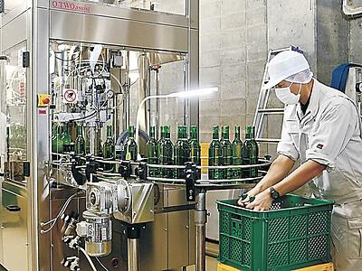 能登ワイン新酒上々、来月12日発売 穴水で瓶詰め始まる