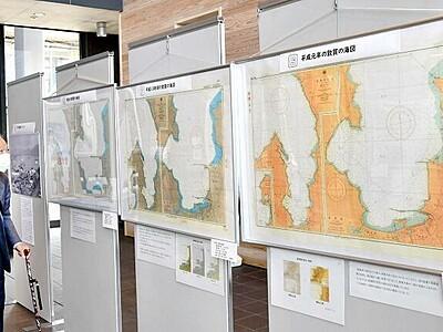明治期以降の敦賀湾の海図紹介 敦賀駅オルパークで企画展