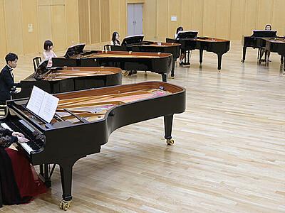 グランドピアノ6台 息ぴったり 重厚な合奏ネット公開へ