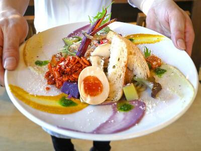 特別なコラボ麺 目と舌で味わって 「おぢや麺フェス」