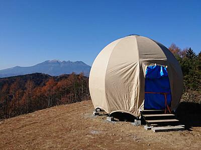 ゲレンデでテント泊いかが 木曽福島スキー場