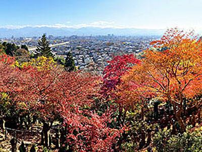 大パノラマの秋景色 富山の長慶寺