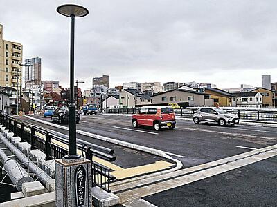 4車線化で安心安全 浅野川に架かる中島大橋、66年ぶりに新調