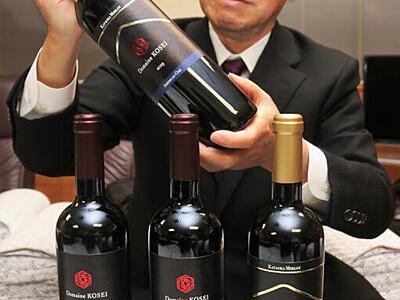 初の赤ワインに手応え 塩尻のワイナリー