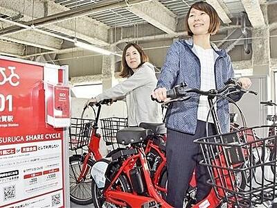 観光スポット巡りにシェアサイクル利用じわり 敦賀市、どこでも返却OK