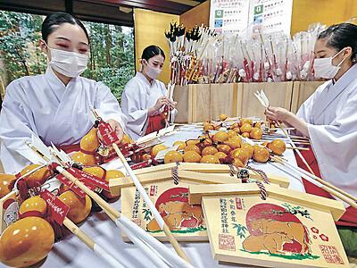 白山比咩神社 コロナの新春へ準備