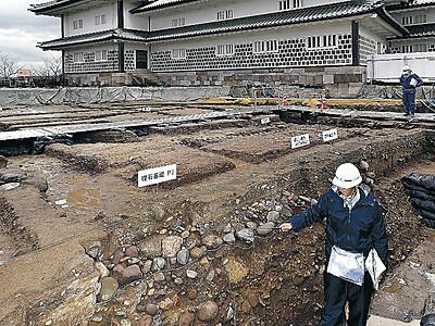 金沢城発掘調査 二の丸御殿遺構公開