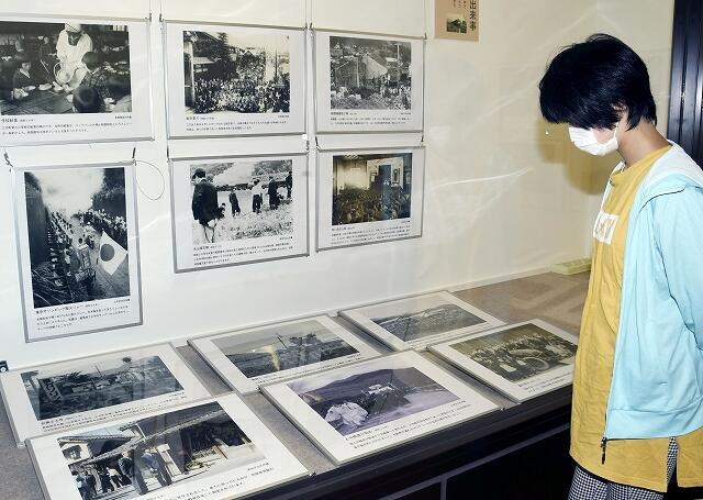 昭和期の若狭町を撮った写真などが並ぶ企画展=福井県若狭町歴史文化館