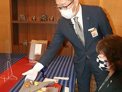 安田瓦を器にコース料理 ホテル日航新潟