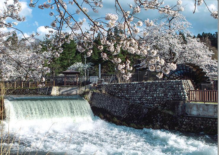 世界かんがい施設遺産に登録された常西合口用水=富山市上滝(富山県提供)
