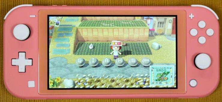 人気ゲームソフト「あつまれどうぶつの森」に公開された「さどが島」の一場面=9日、佐渡市役所