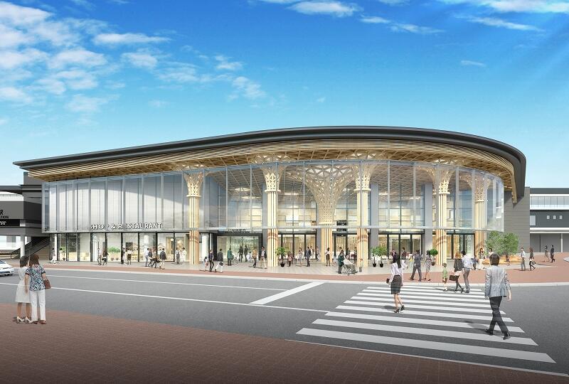 出店事業者が決定した「賑わい施設」の完成予想図