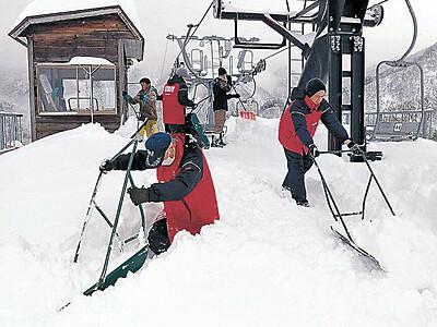 県内スキー場 まとまった積雪に安堵