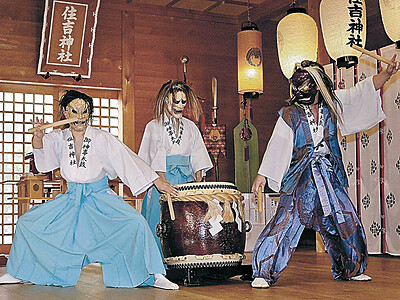疫病退散願い御神事太鼓 輪島・住吉神社