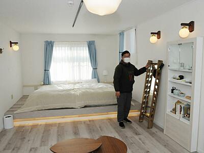 東御に泊まり、ワイン満喫 醸造所が週末2組限定の宿泊施設