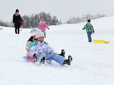 ひろ~いゲレンデ わくわく雪遊び 長岡・越後丘陵公園