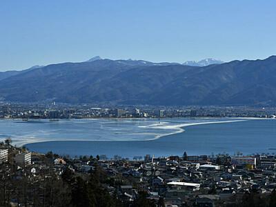 諏訪湖の御神渡り、氷解けやきもき 「大寒」後、寒さ緩む予報