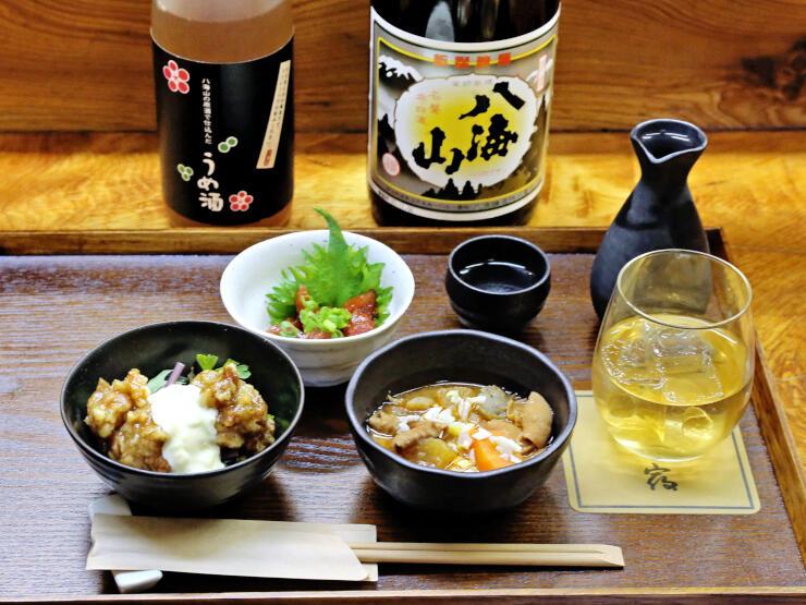 南魚とW八海山の平日限定セット(北乃宿)