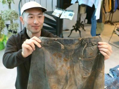 150年モノ 奇跡のジーンズ1500万円 弥彦・古着店