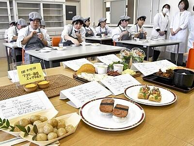 道の駅の料理、生徒が考案 大野市に4月オープン