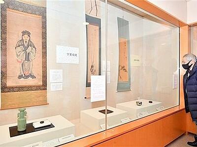 福呼ぶ文様の茶道具多彩 福井市愛宕坂美術館で企画展