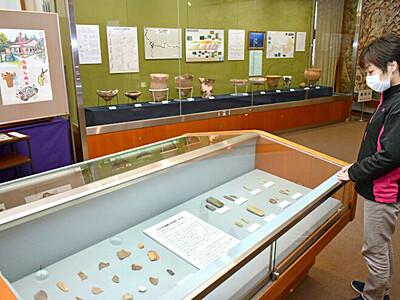 息づく縄文 下クボ遺跡の土器展示 村上・おしゃぎり会館