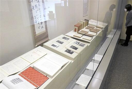 福井県勝山市出身の歴史学者平泉澄の直筆原稿を初公開している福井市立郷土歴史博物館の館蔵品ギャラリー