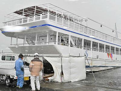 スターマイン号、冬の整備完了 諏訪湖で3月中旬運航再開
