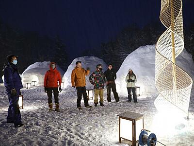 戸隠の冬、光と音で彩る 初の「デザインウィーク」20日から