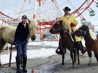 馬の魅力 漫画や動画で 魚津の牧場経営 中村さん夫婦