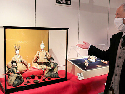 佐久で「郷土のひな人形展」 ひな人形・髪飾り 華やか